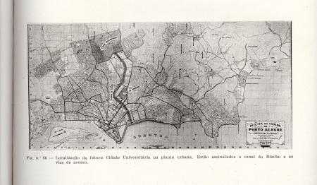 Mapa localização Cidade Universitária Porto Alegre